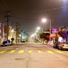 A seemingly endless empty street in the Inner Richmond neighborhood | San Francisco, USA