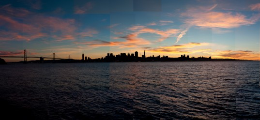 San Francisco Sunset from Treasure Island #2 - Un-smoothed (photo: Patrick Lydon)
