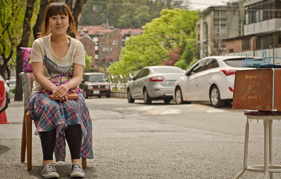 Mina, owner of Blues Guesthouse, Seoul South Korea (photo: Patrick Lydon)