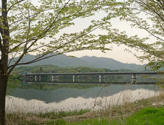 View of the river and Route 6 Highway from Dumulmeori Farm in South Korea (photo: Patrick Lydon)