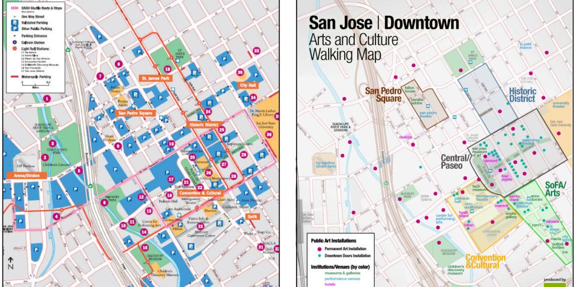San Jose Walking Art Map Redesign