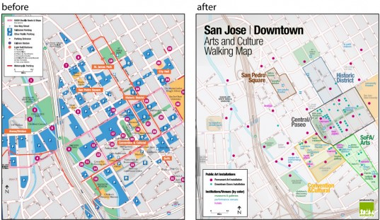 San Jose Walking Art Map Redesign
