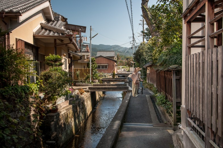 Walking nearby the farm in the town of Makimuku, Japan (photo: P.M. Lydon)