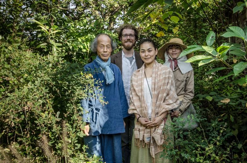 Yoshikazu Kawaguchi with Kaori, Maki, and myself at Kawaguchi's home in Sakurai, Japan (photo: P.M. Lydon)