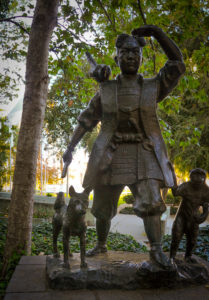 Momotaro Statue in San Jose, USA (photo: Patrick Lydon)