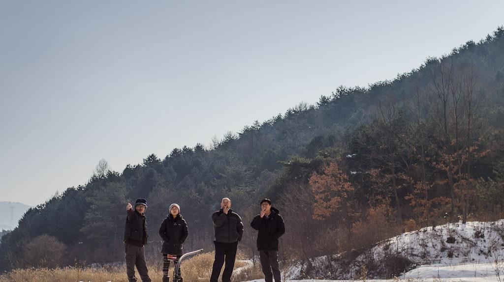 Korean Natural Farmers, Seonghyun Choi (최성현) and Ryosok Hong (홍려석) at Choi's natural farm, Hongcheon, South Korea (2013, P.M. Lydon)