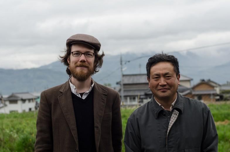 Patrick and Okitsu-san at his farm in Awa, Shikoku.
