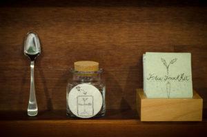 """Free Food Kit"" installation at N3 Gallery in Yamaguchi, Japan."