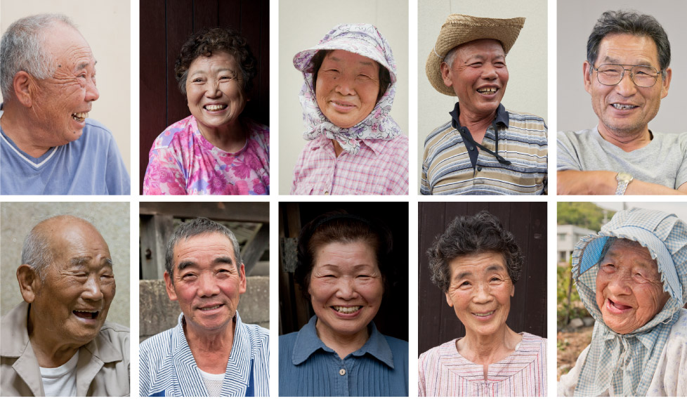A few of our interviewees on Megiima, smile portraits by Suhee Kang