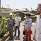 Farmers Matsuzawa and Kohno, surveying farms on Megijima with Patrick and translator Ryushi