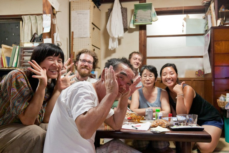 Dinner with locals on Megijima