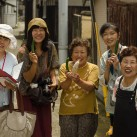 Suhee with volunteers and Megijima locals, who shared their delicious food with us!