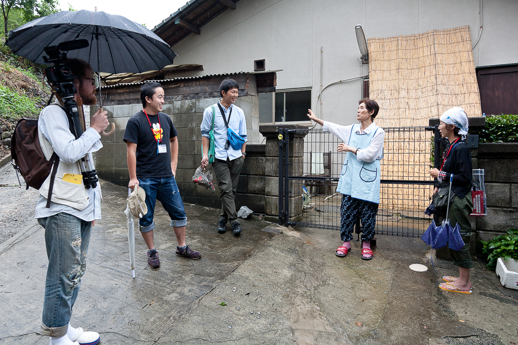 Getting ready to interview a long-time Megijima resident (photo: Suhee Kang)