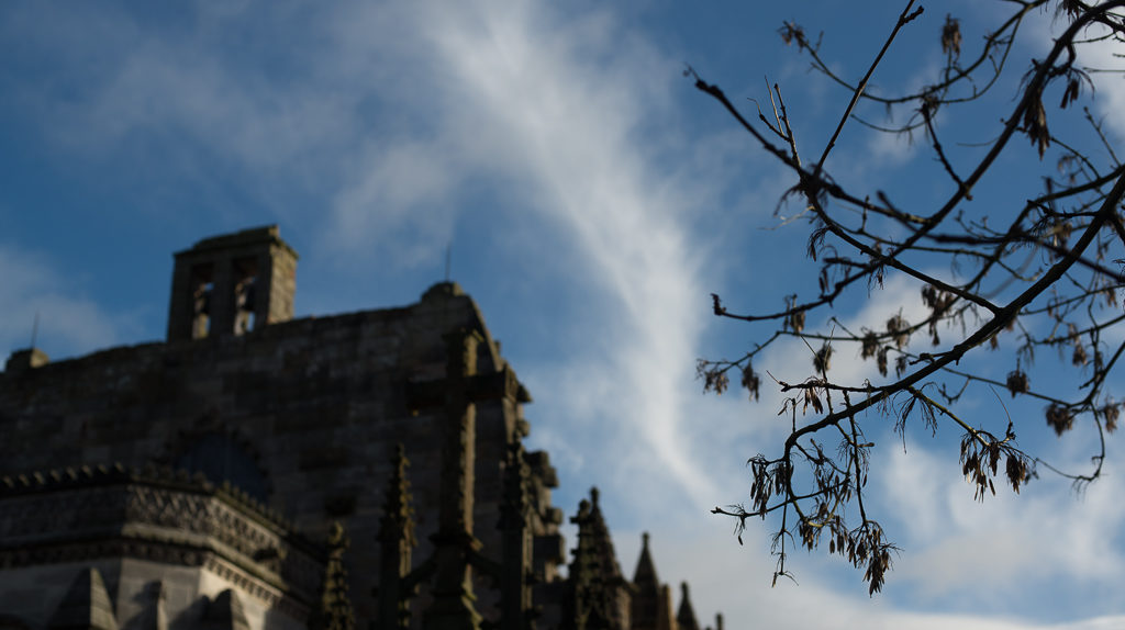 Autumn at Rosslyn Chapel in Scotland