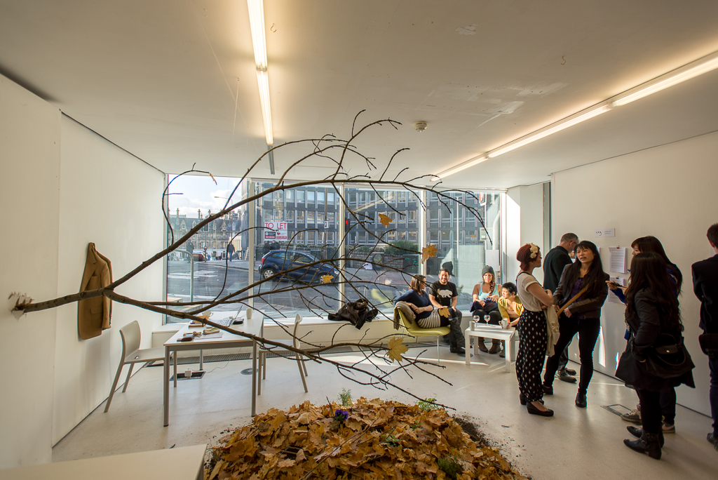 The 'Centre for Endless Growth' installation in TENT Gallery, Edinburgh