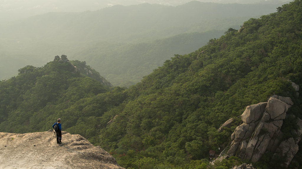 View from the top of Bukhansan mountain in Seoul, South Korea (CC BY-SA, P.M. Lydon)