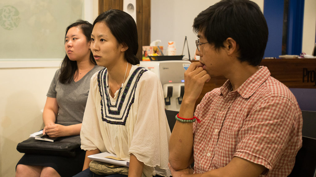 Questions and comments from attendees at the rough-cut screening in Space Noah, Seoul (Photo: Heeyoung Park   CC BY-SA)