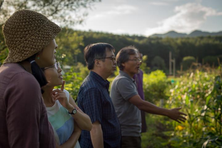 A pre-screening tour of Seonghyun Choi's natural farm in Hongcheon (photo: P.M. Lydon   CC BY-SA)