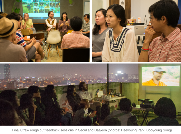 Final Straw rough cut feedback sessions in Seoul, Hongcheon, and Daejeon (Korea)