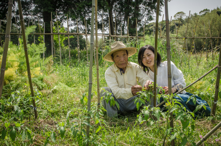 A teacher and student at a natural farm | Fukuoka, Japan