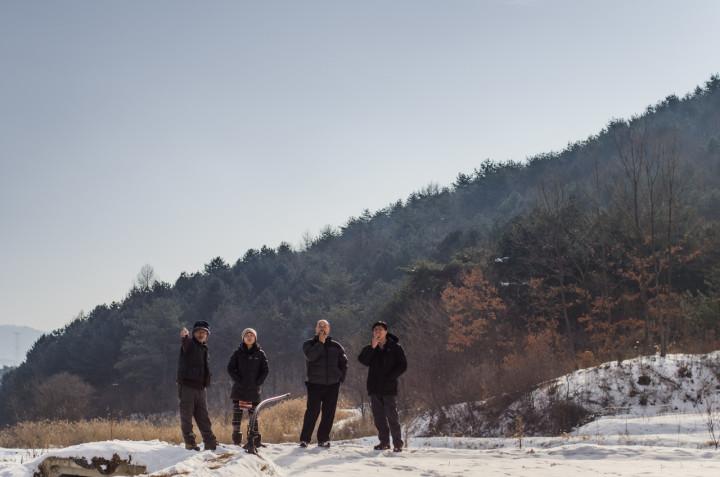 A natural rice farm during Winter   Hongcheon, South Korea