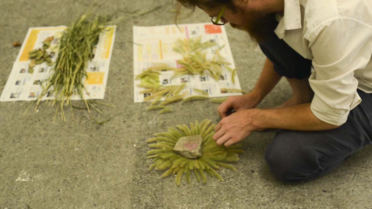 Installing the 'Osakako Mandala' at Contemporary Art Space Osaka, Japan