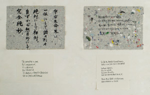 """Two panels in the """"Wisdom from the Field"""" exhibition"""